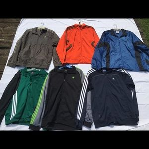 Bundle of men's Adidas athletic jackets